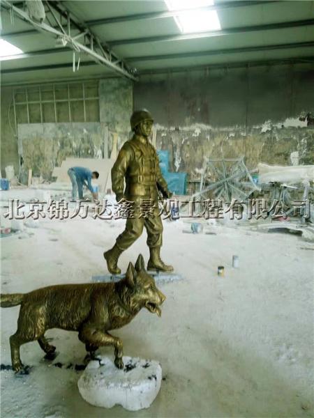 人物雕像战士