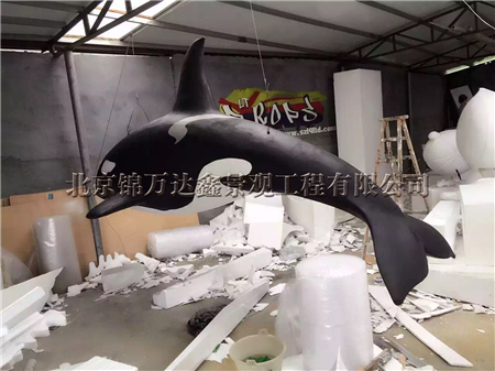 玻璃钢海豚模型