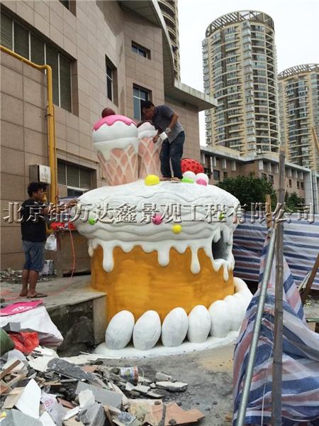 水泥雕塑冰淇淋