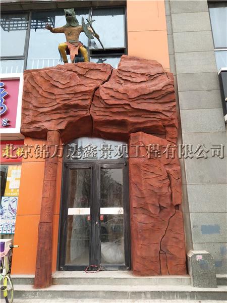 水泥雕塑大门